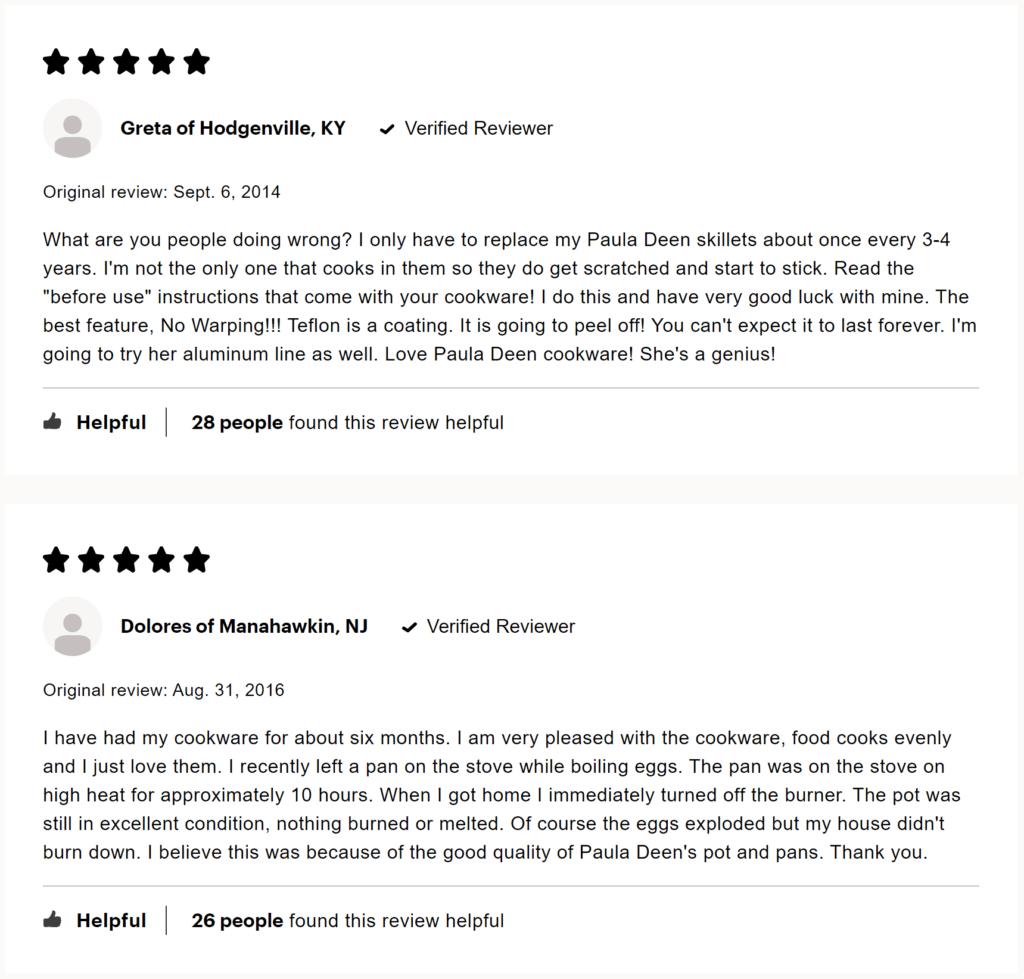 Paula Deen Cookware Reviews